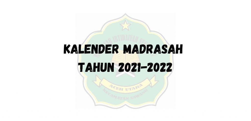 Kalender Pendidikan Madrasah Tahun Pelajaran 2021-2022 ...